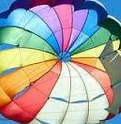 colorful parachute for games